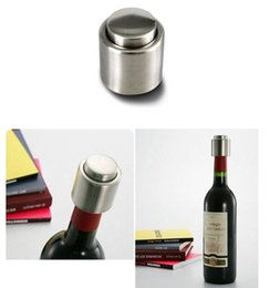 Wine Stopper Stainless Steel Vacuum Sealed Red Wine Bottle Stopper,Pump Inside - Super Easy to Keep Your Best Wine Fresh on Sale