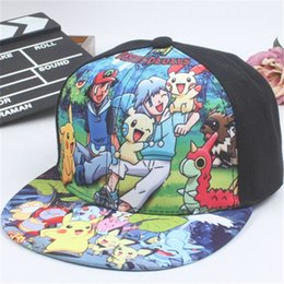 Chapeaux Snapback Pour Les Filles Pas Cher-Poke Go Kids Cap Snapbacks Cartoon Anime Casquette de baseball Monster Pocket Cosplay Doraemon Casquettes Boy Girl Snapback Chapeaux Enfants Cadeau de Noël