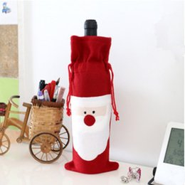 $enCountryForm.capitalKeyWord Australia - Wholesale- Christmas Ornament Mechanical Santa Claus Gift Bags Wine Bottle Clothes Table Decorations Cutlery Accessories