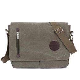 Army style messenger bAg online shopping - Fashion Shoulder Backpacks Man Women Vintage Canvas Satchel Messenger Laptop Shoulder Crossbody Sling Bag School Handbag