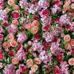 Ingrosso Trasporto libero 10pcs / lot del mercato del bordo della strada della priorità bassa di cerimonia nuziale di rosa di David Austin della corona della parete del fiore di seta artificiale