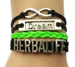 $enCountryForm.capitalKeyWord NZ - 10pcs lot Hot sale new DIY handmade Drop Shipping dream Herbalife Bracelet- Customized Cosmetics Fashion Jewelry Friend Gift bracelet bangle