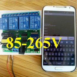 Toptan satış Android uygulaması Kablosuz Uzaktan Kumanda AC 110V 120V DC 5V 4 Kanal Bluetooth Röle Anahtarı