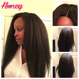 $enCountryForm.capitalKeyWord Canada - Kinky Straight Full Lace Wig With Baby Hair 130 Denisty Human Hair Lace Front Kinky Straight Wig Coarse Yaki Wig for Woman