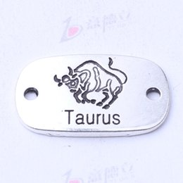 $enCountryForm.capitalKeyWord Canada - Taurus hand flake square charms antique silver bronze DIY jewelry fit Necklace or Bracelets 100pcs lot 3118z