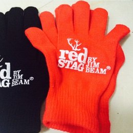 Jacquard Knit Fabric Canada - Custom Knitted Gloves Acrylic Fabric Five Fingers Gloves Wholesale Can Print Your Logo On It Promotional Product Free Shipping
