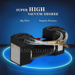 High Pressure Air Compressors Canada - 12V Oilless Corrosion Resistant Quiet Small Vibration Mini Vacuum Pump Big Flow FPM Diaphragm Pump Air Gas Steam Compressor