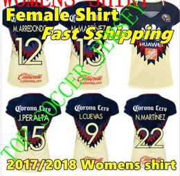 0e121508534 2017 2018 WOMENS LIGA MX Mexico Club America Soccer Jerseys Home Away green  16 17 O ...