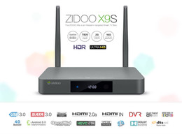 Android Tv Box Hebrew Canada - DHL Free ZIDOO X9S Android 6.0 TV Box Realtek RTD1295 Quad Core 2G 16G HDMI OUT IN KDI Smart TV Russian Hebrew IPTV Europe Tv Box
