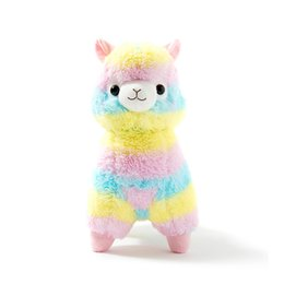 China 35Cm Rainbow Alpaca Plush Toy Vicugna Pacos Japanese Soft Plush Alpacasso Sheep Llama Stuffed Toy Gifts For Kids And Girls supplier japanese anime gifts suppliers
