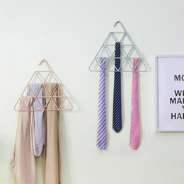 Trouser belT clips online shopping - Colourful Hangers Leather Belt Clothes Rack Silk Stockings Triangle Coat Hanger Eco Friendly Reusable Hot Sale fc C R