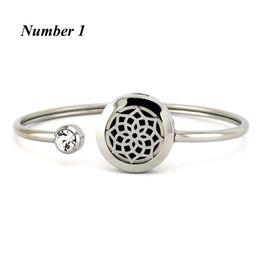 Ingrosso 20mm argento rotonda mano in acciaio inox bracciale locket aromaterapia braccialetto diffusore di olio profumo gioielli braccialetto