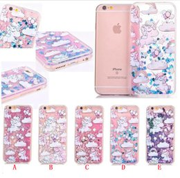 $enCountryForm.capitalKeyWord Australia - Unicorn Quicksand Liquid Hard PC TPU Case For Iphone 6 6S Plus I6S Horse Star Love Flow Bling Glitter Magical Dynamic Clear Skin Cover 50pcs
