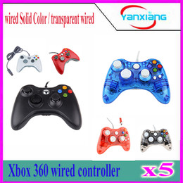 $enCountryForm.capitalKeyWord Canada - 5pcs New arrival Wired Game Joypad Joystick Controller With Grip For Xbox 360 Hot With USB Cable, LED XBOX360 YX-360-02