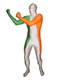full body suit pattern NZ - Ireland Flag Pattern Zentai Spandex Lycra Full Body Suit