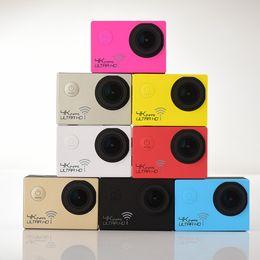 24fps Camera NZ - Hot selling WIFI Action camera Novatek 96660 Ultra HD 4K 24FPS 16MP Sport Cam Helmet Camera Diving 30M waterproof camera 170D lens