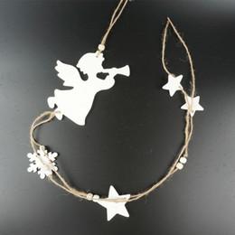 $enCountryForm.capitalKeyWord Canada - angel hanging decoration children day decor 1pc white wood angel star party decoration supplies
