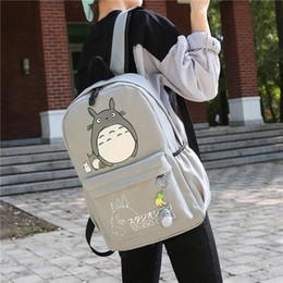 Ingrosso Totoro zaino stampa 3D viaggio softback donne mochila Scuola spazio zaino notebook ragazze zaini 2017 nuovi