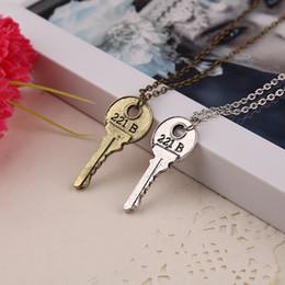 $enCountryForm.capitalKeyWord UK - Movie Sherlock Holmes Jewelry Key Necklace The Abominable Bride Sherlock Pendant Apartment Statement Necklace Sherlock Holmes NO CHAIN