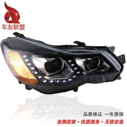 Headlamp Assemblies Canada - Special offer Subaru XV angel eye headlight assembly VX xenon headlamps with U lens the European version of LED
