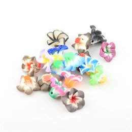 Barato Polímero Padrão-Moda Mixed Polymer Fimo Fruit Flower Patterned Clay Spacer Beads Loose Beads Para Jóias DIY