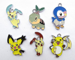 Wholesale Mixed New Cartoon Pocket Monsters Spirit Pikachu Metal Charm Pendants DIY Jewelry Making Party Toy Gifts