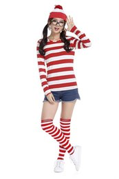 Wholesale New hot Where s Wally Waldo TV Cartoon Stag Night Outfit Adult Mens Fancy Dress Costumes halloween costume for women cosplay