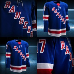 ed0477c19d8 2017-2018 Season Custom New York Rangers J.T. Miller Jimmy Vesey Mats  Zuccarello Tanner Glass Chris Kreider Rick Nash Jesper Fast Jerseys ...