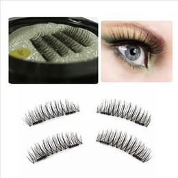 Plastic Black Magnets NZ - Handmade Double Magnet 3D Magnetic False Eyelashes 11 Designs Full Strip Magnetic Eyelash Lashes Black Soft Hair Reusable