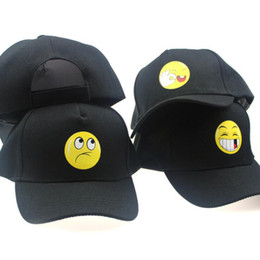 2919dbc74c1d Emoji caps online shopping - QQ Emoji Black Breathable Baseball Caps Men  Women Snapback Hip Hop