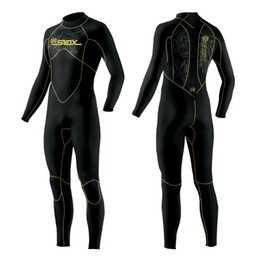 af1d75e3b1 5MM Men Neoprene wetsuit Surfing suit diving suit long sleeve keep warm  inner with Microvillus Spearfishing scuba diving wetsuit