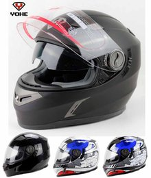 Ran Helmet Canada - Eternal YOHE double lenses full face motorcycle helmet run motorbike helmet made of ABS YH-952-RR built-in UV protection lens