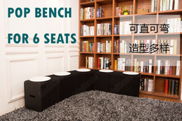 $enCountryForm.capitalKeyWord Canada - H42cm x L300cm Innovation Furniture Pop - Smart Bench Indoor Universal Waterproof Accordion Style Kraft Portable Chair for 6 Seats Black