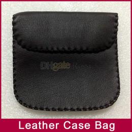 Lleve el bolso de la caja para la caja de la bolsa del bolso de cuero del teléfono del auricular del auricular que envía libremente 100pcs / lot ¡Alta calidad caliente! en venta