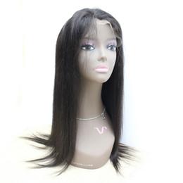 """Virgin Brazilian Human Hair Wigs NZ - Human Hair Wigs Brazilian Virgin Straight Full Lace Wigs 130% Density 1B Lace Front Wigs for Black Women 10""""-30"""""""