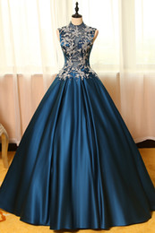 Female Navy Costumes NZ - 100%real navy blue silver flower embroidery theme court ball gown medieval dress Renaissance queen Victorian dress gown Belle Ball