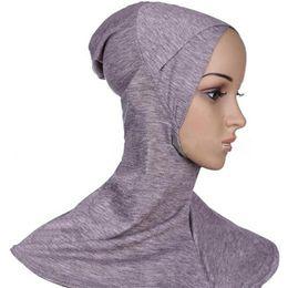 Chinese  Muslim Hijab Caps Hijab Scarf Women Ninja Underscarf Caps Islamic Product Instant Turban Cotton Black Full Cover Jersey Bandana manufacturers
