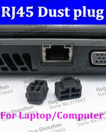 computer dust covers NZ - China wholesale ! RJ45 dust plug  dust cover for laptop computer Router with free shipping 200pcs lot