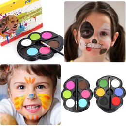 halloween makeup kit for kids. rainbow body paint color neon uv glowing face painting palette art temporary tattoo schmink pigment halloween makeup sets kits for kids kit