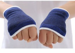 Spring Gloves Canada - Palm Wrist Gloves Hand Palm Gear Protector Elastic Brace Gym Sports Support 1 Pair drop shipping