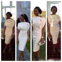 $enCountryForm.capitalKeyWord Canada - African Women Sheath Black Girls Prom Dresses 2017 Bateau Sleeveless Tea Length Evening Gowns Zipper Back Formal Party Dresses