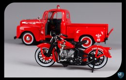 Kids Toy Motorbikes Canada - Alloy Car Model Toy, Classic Pickup Car with Motorbike, SUV Model, High Simulation,for Kids' Toy,Christmas Gifts, Collecting,Home Decoration