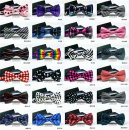$enCountryForm.capitalKeyWord Australia - grid bow tie 34 colors 12*6cm Children's bowties Adjust the buckle Leopard grain color bowknot Occupational bowtie for Father's Da