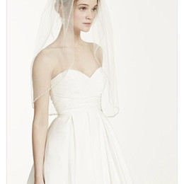 Tulle Head Bridal UK - New Hot Quality Sexy Romantic Elbow Beaded Edge veil With Comb Bridal Head Pieces For Wedding Dresses
