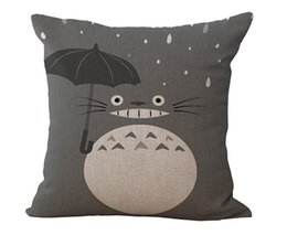 $enCountryForm.capitalKeyWord Canada - Japan's hayao miyazaki Famous comic totoro an umbrella emoji pillowcase massager decorative pillows art painting home decor gift