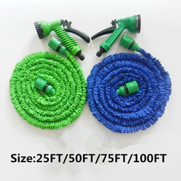 Hoses 25 50 75 100 FT Expandable Garden Water Hose Flexible Hose With Spray  Good Nozzle Head Opp Bag By Wash Hose