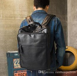 $enCountryForm.capitalKeyWord NZ - Factory sales brand new Europe college mens bag wind leisure brand backpack for male and female students wear flexible leather ba