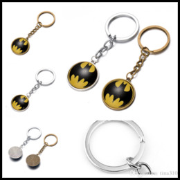 Diy Boys Toys UK - New DIY Key Chain cartoon toys Batman Paragraph keychain Gift Pendant Luggage Backpack Accessories Free shipping B0373