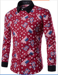 Discount Mens Long Sleeved Patterned Shirts | 2017 Mens Long ...