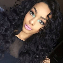 Discount prices for human hair wigs - Lace Front Wig Natural color Loose Wave Brazilian Malaysian Virgin Human Hair Full Lace Wig Unprocessed Cheap Price For